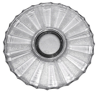 Jeannette Crystal Dew Drop Lazy Susan with Base and Original Metal Ball Bearing