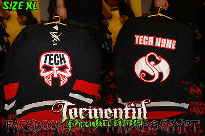 XL Tech N9ne paint hockey jersey insane clown posse juggalo twiztid hoodie shirt