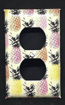 Pineapples Outlet Cover Plates Colorful Country Kitchen Island Decor Fruit