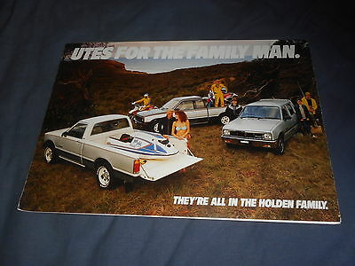 1986 Holden Utes Pickup by Isuzu Australian Market Color Brochure Prospekt