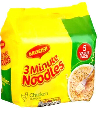 2 x pack of 5 MAGGI 3 Minutes Instant Soup Chicken  Noodles value