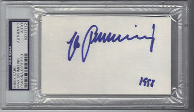 Psa/dna Autograph Max Schmeling Boxing Heavyweight Champion Signed Signature