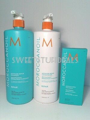 Moroccanoil Moisture Repair Shampoo and Conditioner 33.8oz / 1L Combo