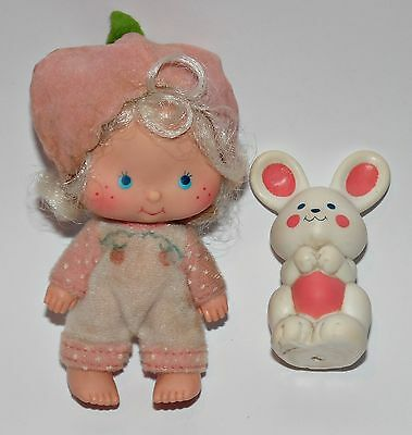 Emily Erdbeer Apricot mit Hase Strawberry Shortcake Puppe Doll 80er 90er Jahre a