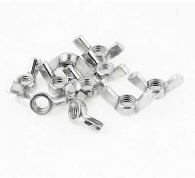 10 Pcs 7mm Dia Coarse Thread Qucik Release Metal Wingnut Hardware