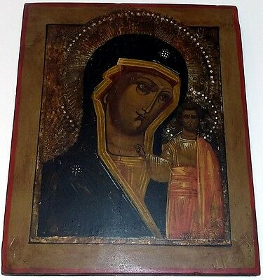 Icon Mutter Gottes Kazan Russland 27/22/2 cm