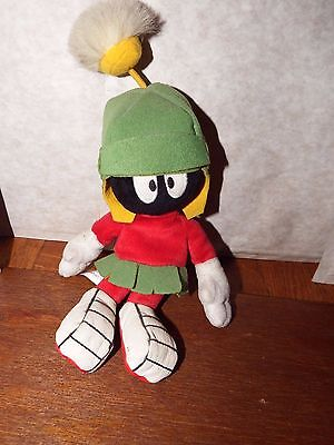 """12"""" Marvin the Martian Loony Tunes soft plush figure toy Warner Bros alien"""