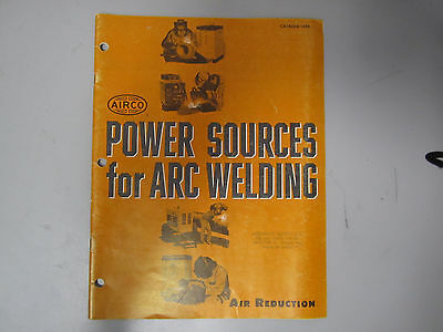 Vintage 1965 Airco Power Sources For Arc Welding  Product Catalog