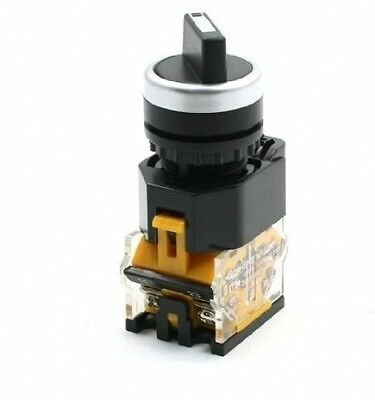 NO NC 4 Screw Terminals Rotary 3 Position Push Button Switch 380V 10A