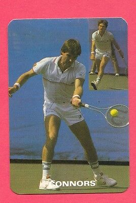 Jimmy Conners Tennis Collectible Card 1986; Tennis Star 1980's