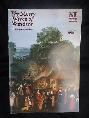 THE MERRY WIVES OF WINDSOR shakespeare 1995 NATIONAL THEATRE PROGRAMME