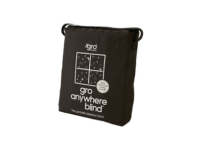 Portable Blackout Blind Travel Gro Anywhere Adjustable Easy Install w Carry Bag