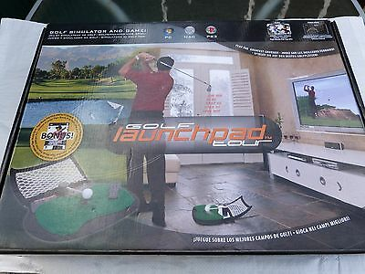 Golf launchpad SImulator and game