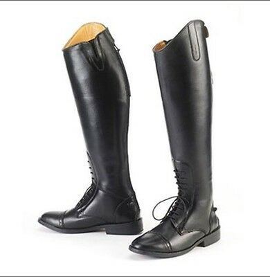 Equistar Ladies Tall All Weather Show Field Boots English Horse Riding Black 5.5