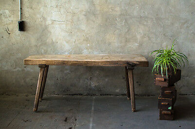Vintage Butchers Block Table Kitchen Dining Table Display Side Board Rustic Deco