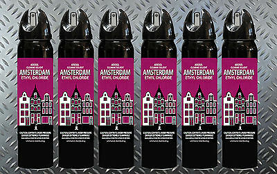 (6) Amsterdam Cleaning Solvent Maximum Impact Ethyl Chloride Spray Cleaner