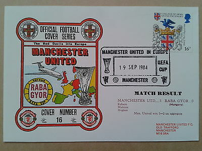 MANCHESTER UNITED v RABA GYOR 1984 Football Cover Series(No16)