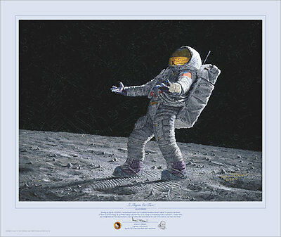 Alan Bean IS ANYONE OUT THERE? giclee print #240/244, Moon Astronaut