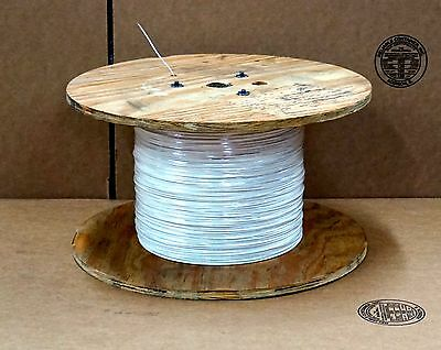 18 AWG silver plated copper wire18 solid SPC XLETFE (5,000 feet per reel) white