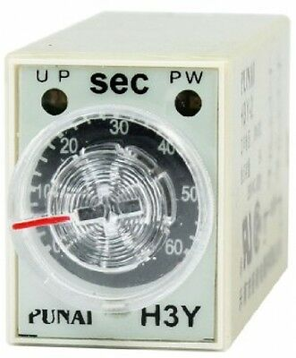 DC24V DPDT Knob Control 60s Seconds Time Delay Relay H3Y-2 8 Pin