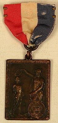 Ymca Icymca Spirit Mind Body John 17:21 Bronze Medal Ribbon Old