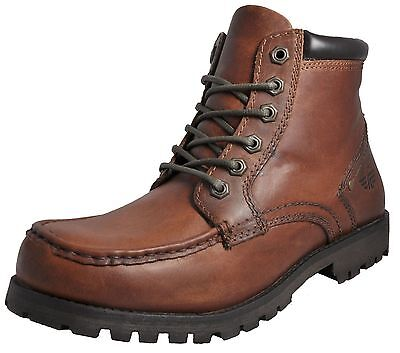 Red Tape Mens Keasden Tan Leather Lace Up Ankle Boots Shoes New Sizes UK 7-11
