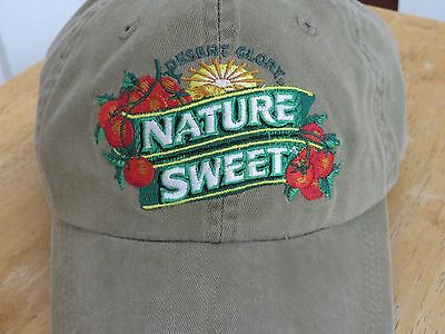 Nature Sweet Tomatoes Olive Green Gardeners Cap Hat Adjustable Leather Strap NEW