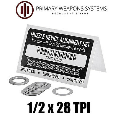 Primary Weapons Systems PWS Muzzle Brake/Device Alignment Set/Shim Kit (1/2x28)