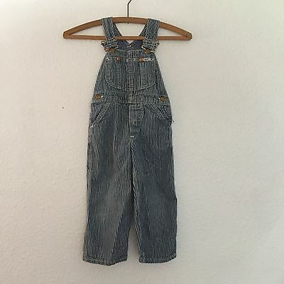 Vintage 50's Lee Kid's Hickory Stripe Railroad Engineer Overalls Made in USA EUC