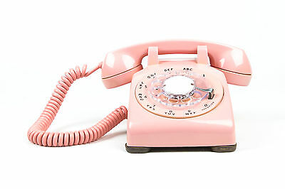 Meticulously Refurbished & Restored Western Electric Rotary Dial Phone - Pink