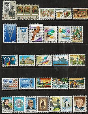 Finland: 165 all different MNH commemorative stamps