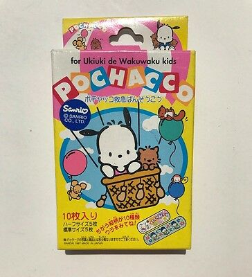 1997 Sanrio Pochacco 10 Pcs colorful bandages In Box New old stock Rare Bandai