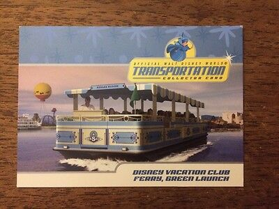 Disney World Transportation Card #10 Of 26 Merryweather And The DVC Ferry Green