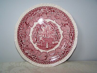 Beautiful Masons / Mason's Pink / Red Vista 6 3/4'' Bread And Butter Plate