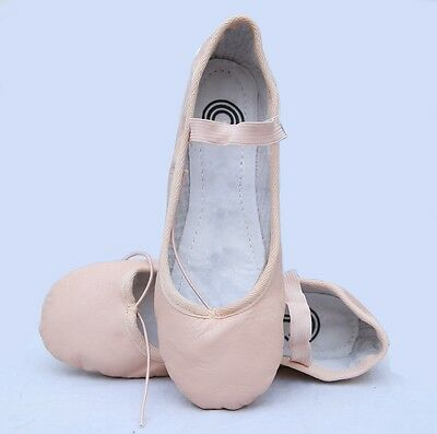 Ballet Shoes Pink Genuine Leather Full Sole Comfort Babe's /girls/women's