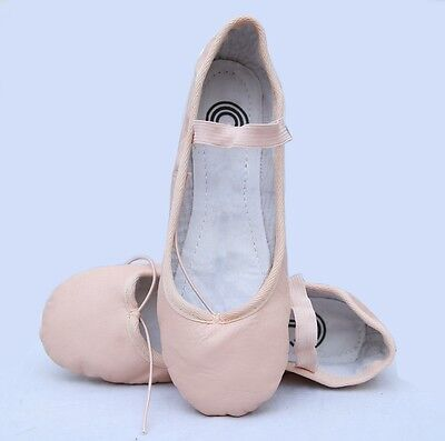 Ballet Shoes Pink Genuine Leather Full Sole Comfort Babies/Girls/Women's