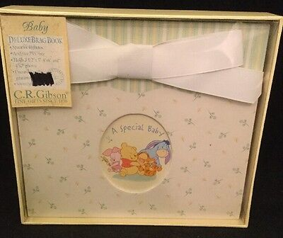 NEW Deluxe Baby Brag Photo Book - Winnie The Pooh  by C.R. Gibson