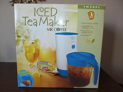Mr Coffee Fast Brew Iced Tea Maker 3 Quart Bonus Pitcher TM3P Jug 24 Lipton Bags