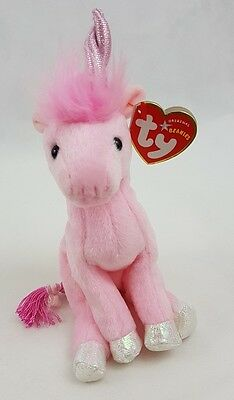 6ed36af0e67 TY beanie babies fairy tale the pink unicorn 2004 original retired ref 2