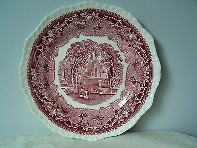 Beautiful Masons / Mason's Pink / Red Vista 9'' Supper / Luncheon Plate