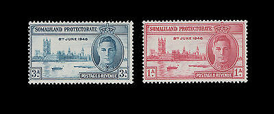 Somaliland Protectorate  1946 SG#117 118 Victory Peace Issue MNH
