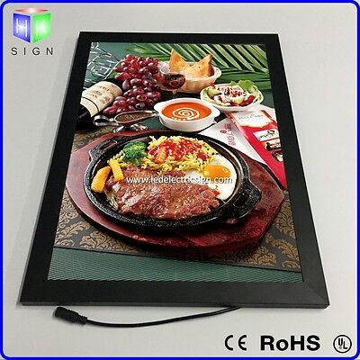 Restaurant LED Menu sign with aluminum frame light box