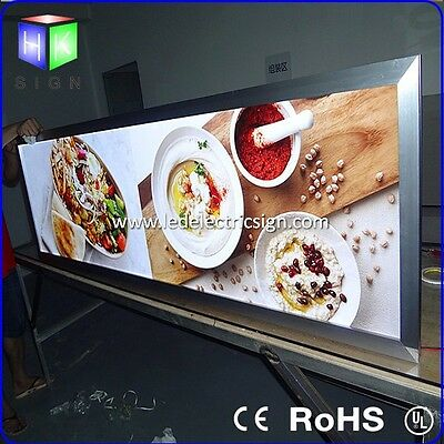 Fast Food Restaurant Magnetic LED Light Box Sign Menu Board