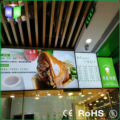Restaurant LED Menu Board Advertising Light Box Display