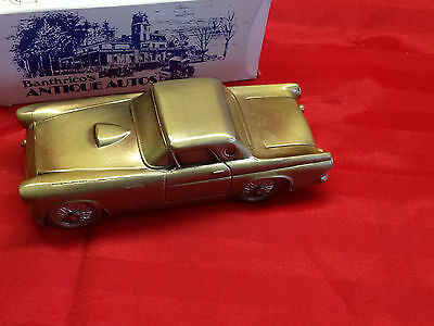 Banthrico 1955 Ford Thunderbird Car Coin Bank Vintage Metal Art '74 Die Cast Nos