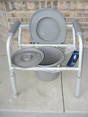 BRAND NEW Lumex Three-In-One Standing Steel Commode Toilet 7103 7103A-4