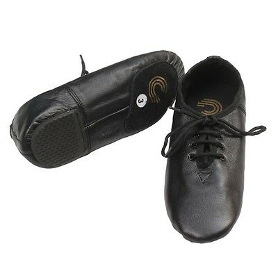 JAZZ DANCE SHOES Black Leather for girls/women