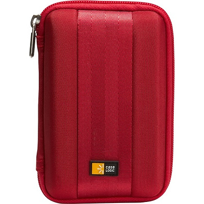 NEW Case Logic QHDC-101RED Compact Portable Hard Drive - for portable HDD molded