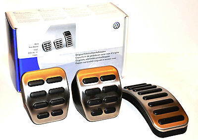 Volkswagen Drivers Gear Stainless Pedal Caps MKIV Golf Jetta TDI 1.8T VR6