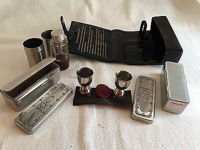 Hebrew Jewish Kiddush Communion Engraved Travel Portable Cup Set & Case